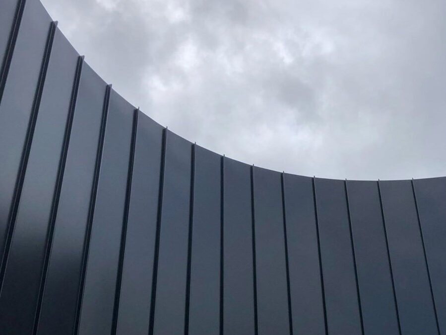 , Curved Metal Cladding Stands Out From The Crowd